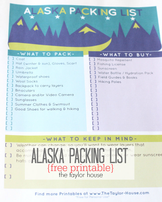 What you need to pack for an Alaska Cruise!