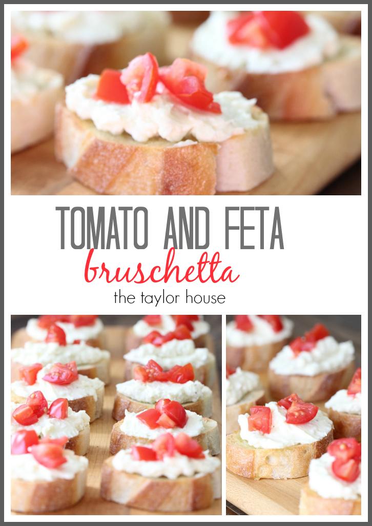 Delicious and Simple to make Tomato and Feta Bruschetta Recipe!