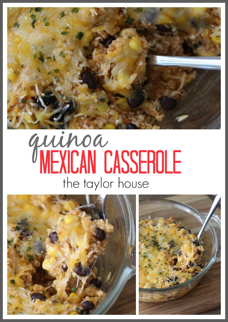 Delicious and Simple to make Quinoa Mexican Casserole!