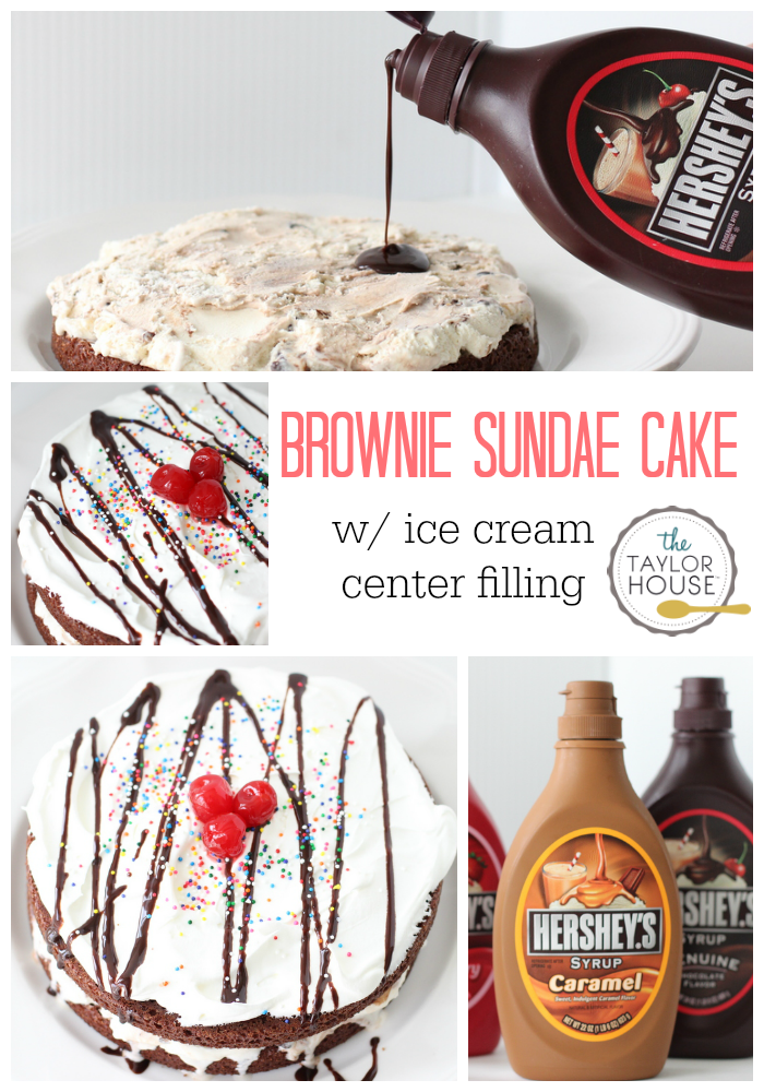Delicious and Simple to make Brownie Sundae Cake!