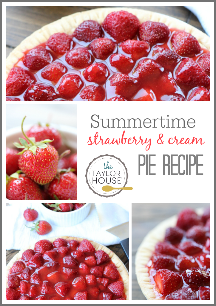 Delicious Summertime Strawberry Cream Pie recipe!