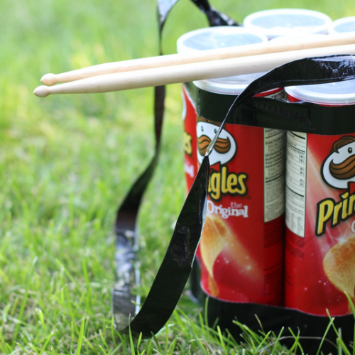 Upcycled Pringles ® Can DIY Drum