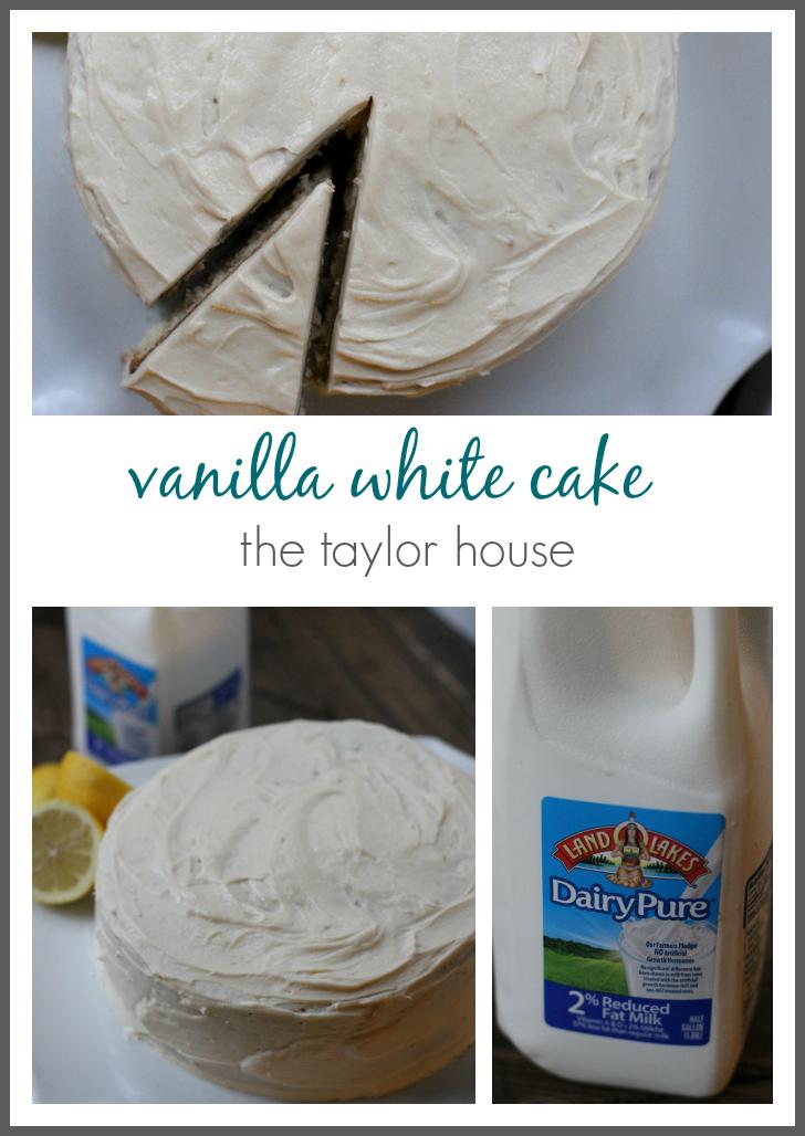 Delicious vanilla white cake recipe!