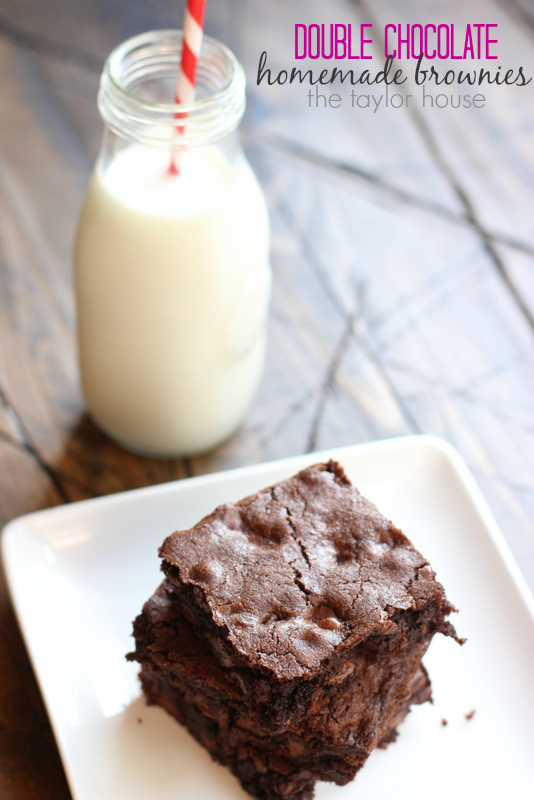Delicious and simple to make Double Chocolate homemade brownies!