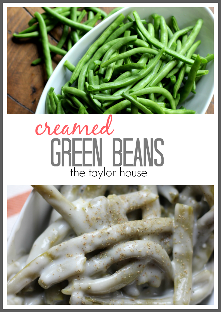 Delicious and Easy to make Creamed Green Beans!