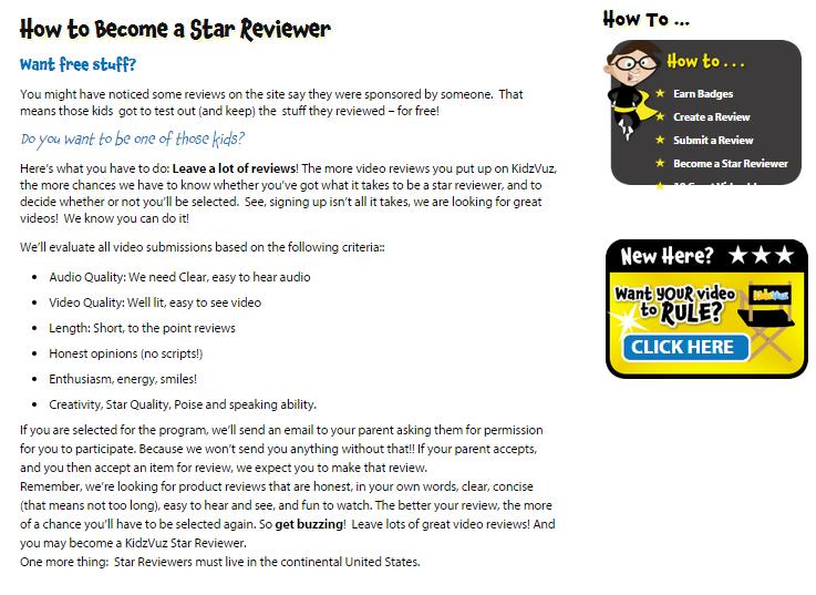 KidzVuz: Videos and Reviews from Kids