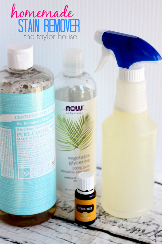 How to make your own homemade stain remover!