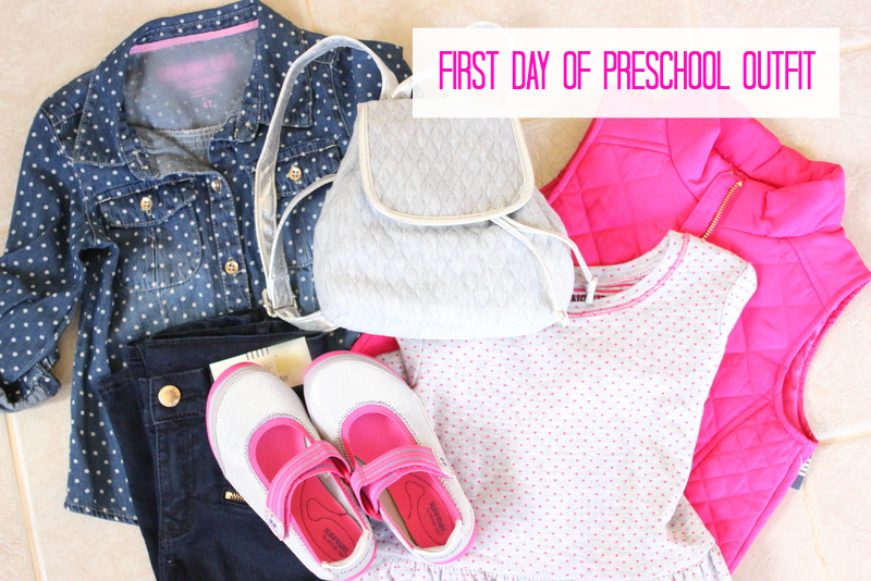 First Day of Preschool Outfit with shoes from Stride Rite!