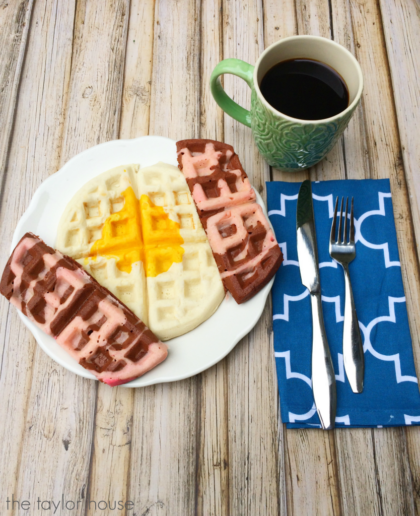 Delicious Bacon and Egg Waffles