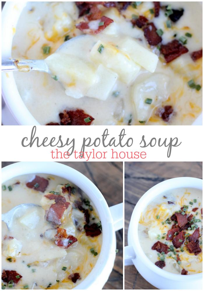 Delicious Creamy and Cheesy Potato Soup Recipe!