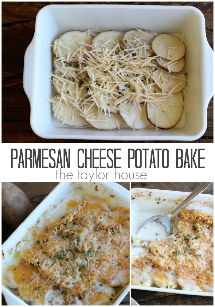 Delicious and simple to make Parmesan Baked Potato Casserole