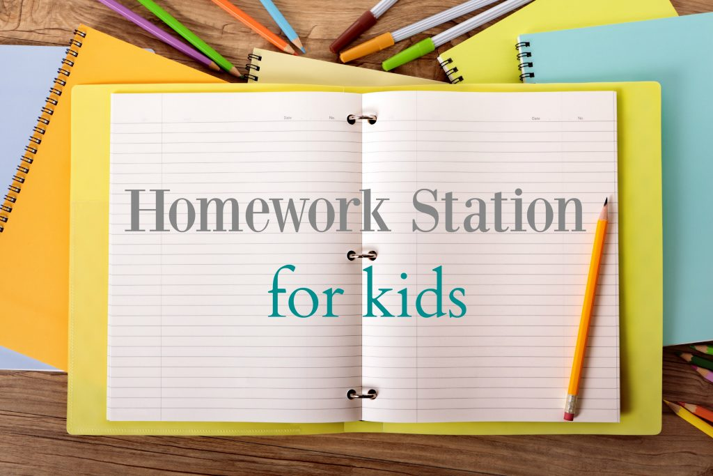 Creating a Homework Station for your kids!