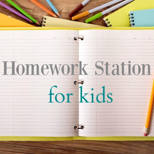 Creating a Homework Station