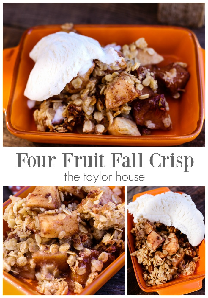 Mouthwatering delicious Fall Four Fruit Crisp