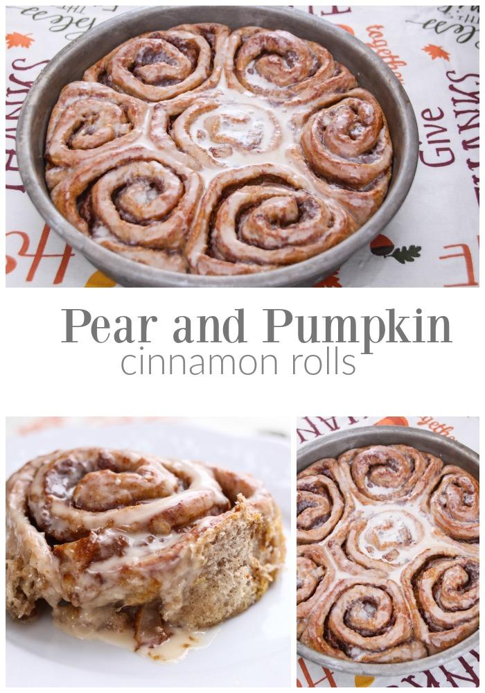 Pear and Pumpkin Cinnamon Rolls!