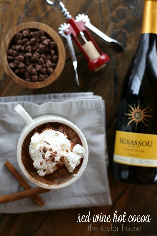 Creamy and delicious Red Wine Hot Cocoa!