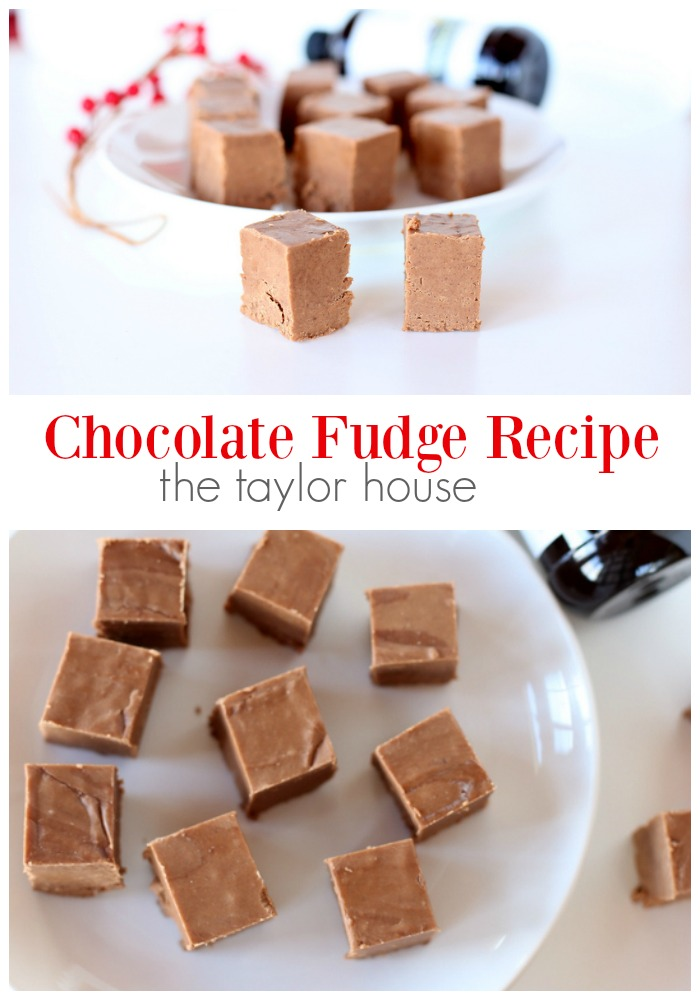 Delicious creamy Chocolate Fudge that's perfect for the holidays!