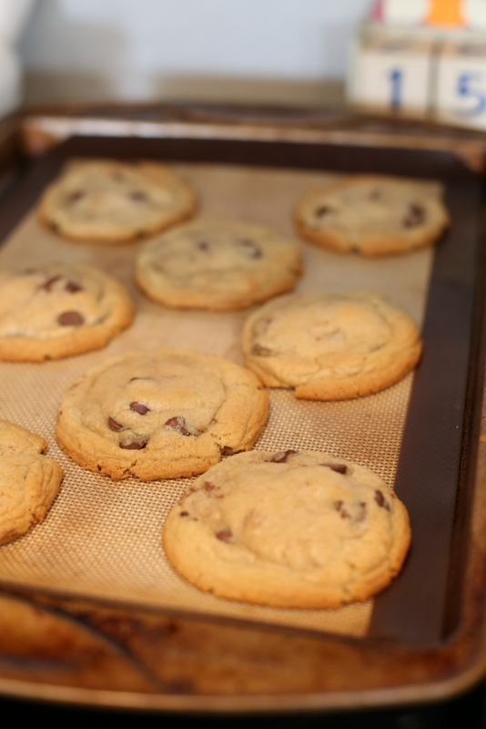 The perfect Giant Chocolate Chip Cookies!