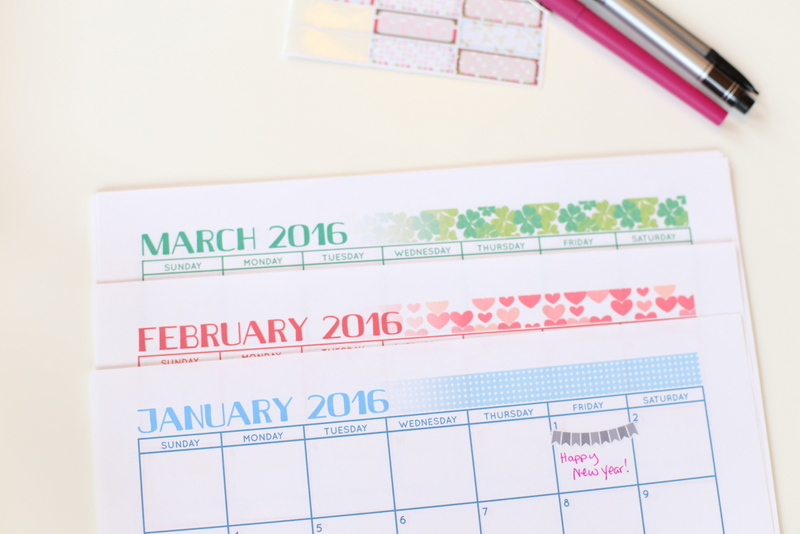 2016 FREE Printable Calendar to get your new year organized and off on the right foot!