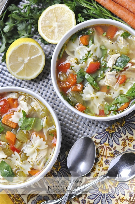 Lemon Turkey Noodle Soup
