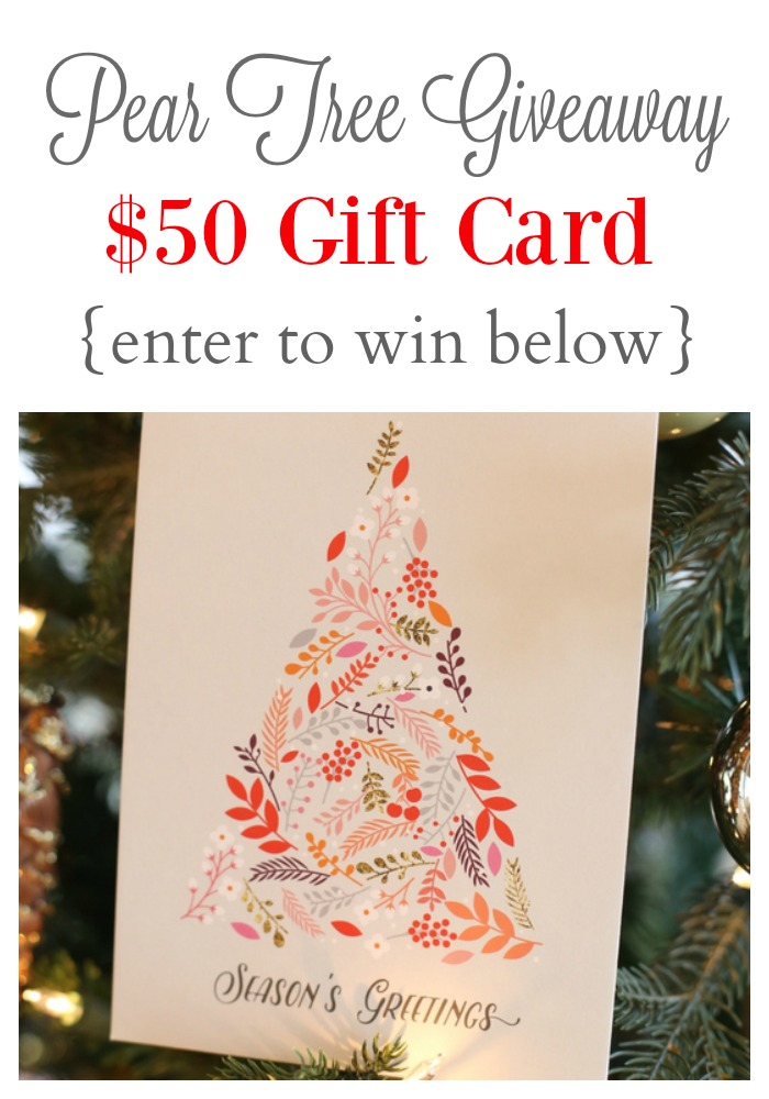 Pear Tree Greeting Holiday Cards and Giveaway!
