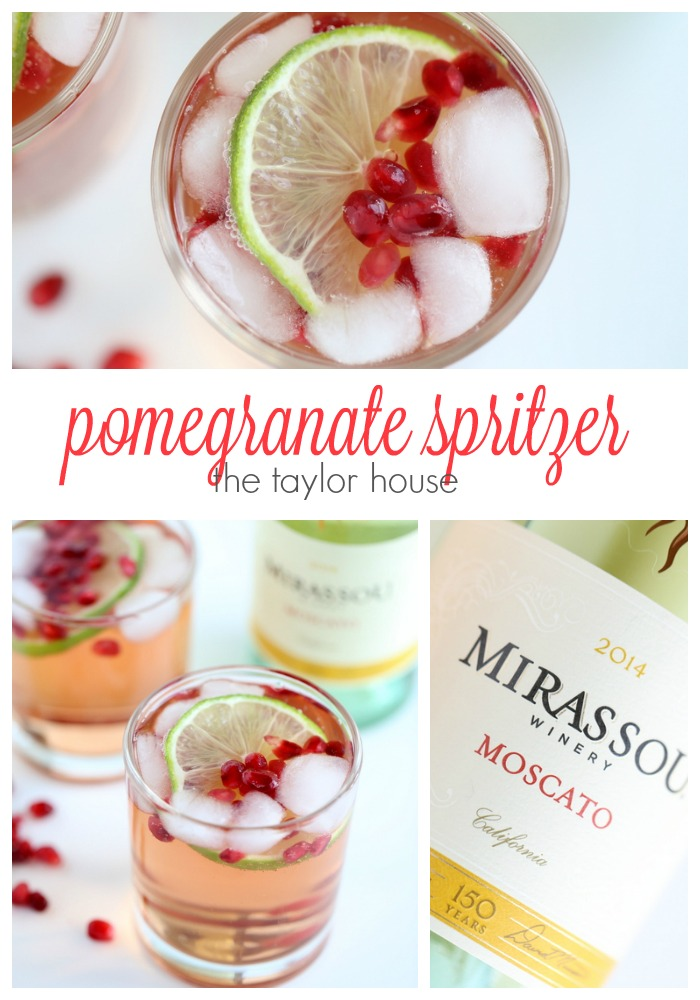 Light and Delicious Holiday Drink Idea: Pomegranate Spritzer