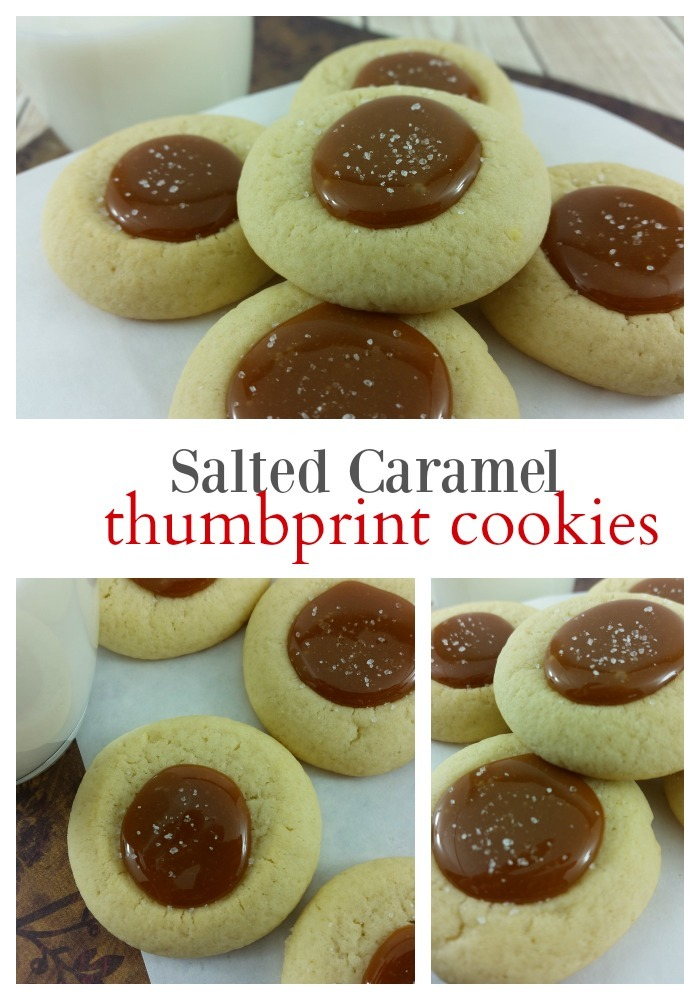 Salted Caramel Thumbprint Cookies are perfect to make for the Holiday!