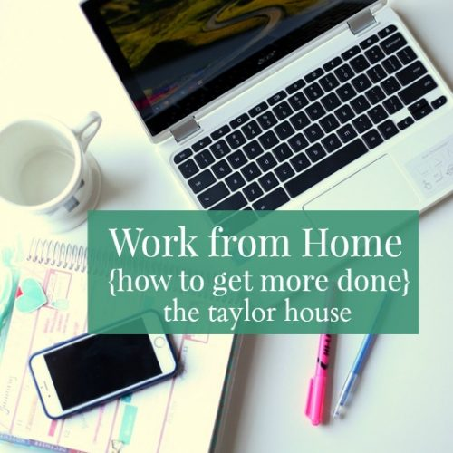 Work from Home: How to Get More Done