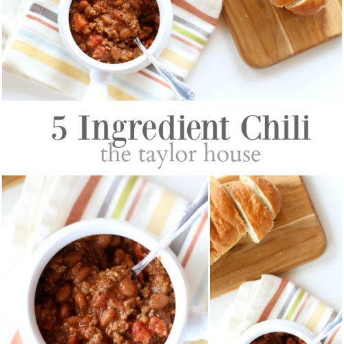 Kitchen Preview and 5 Ingredient Chili Recipe