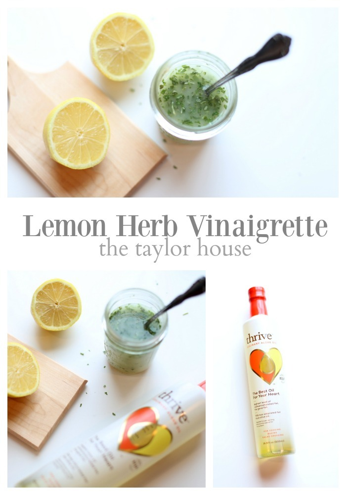 Light and Delicious Lemon Herb Vinaigrette that's perfect for salads or marinating chicken and fish!