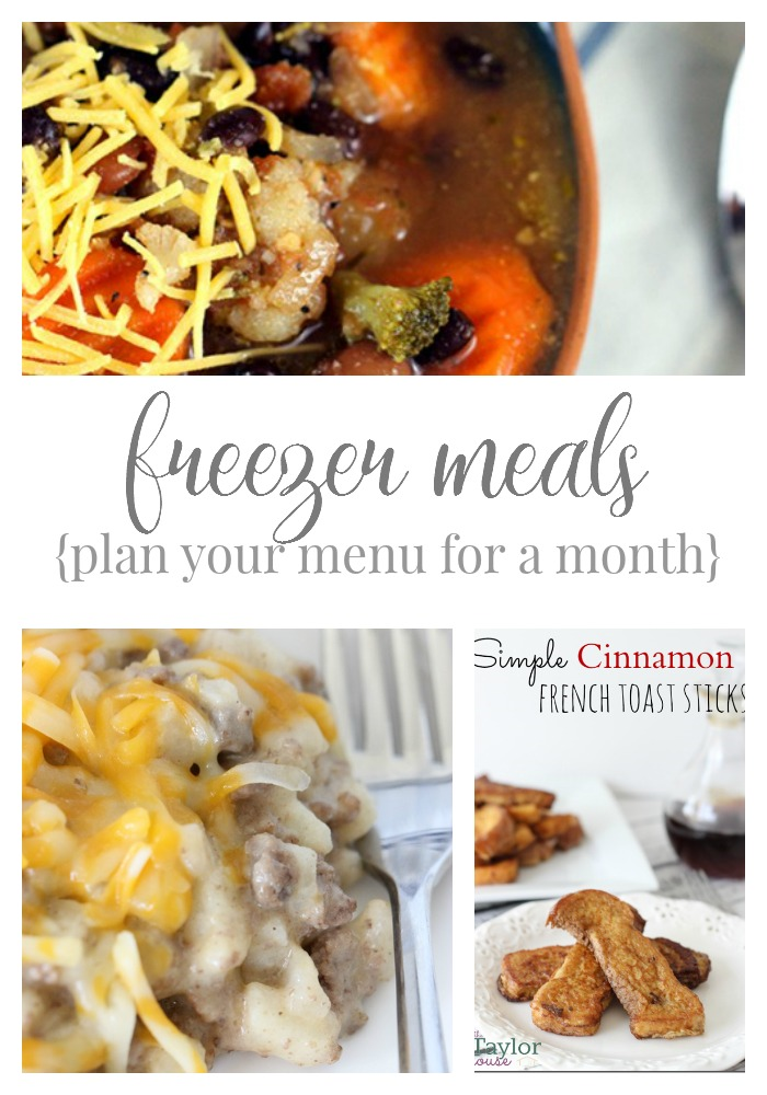 Delicious Freezer Meal Recipes - plan your menu for a month!