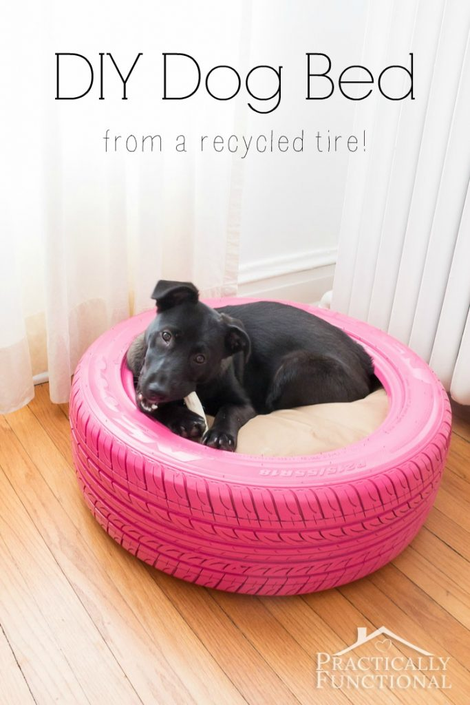 How to make a DIY Dog Bed from a recycled tire.
