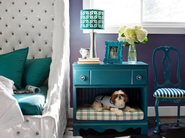 Turn an old dresser into a pet bed!