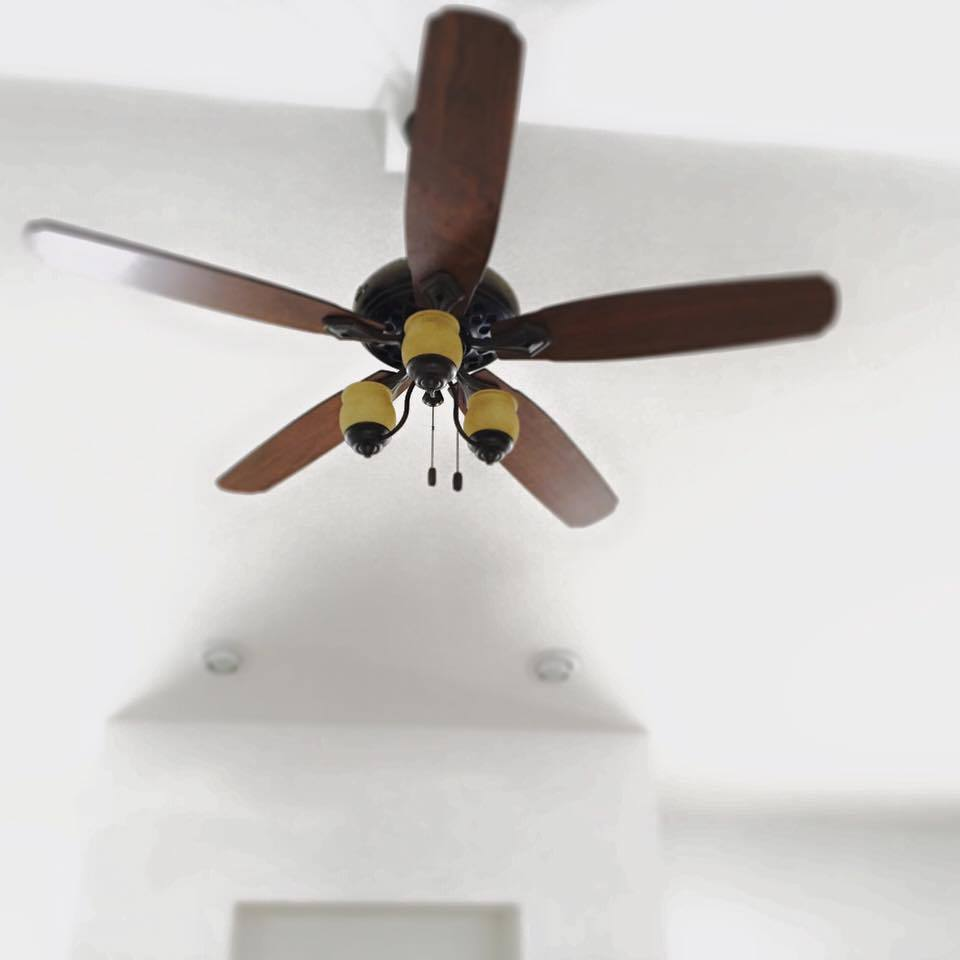 Dreamy Hunter Fans - the perfect fan for a vaulted ceiling