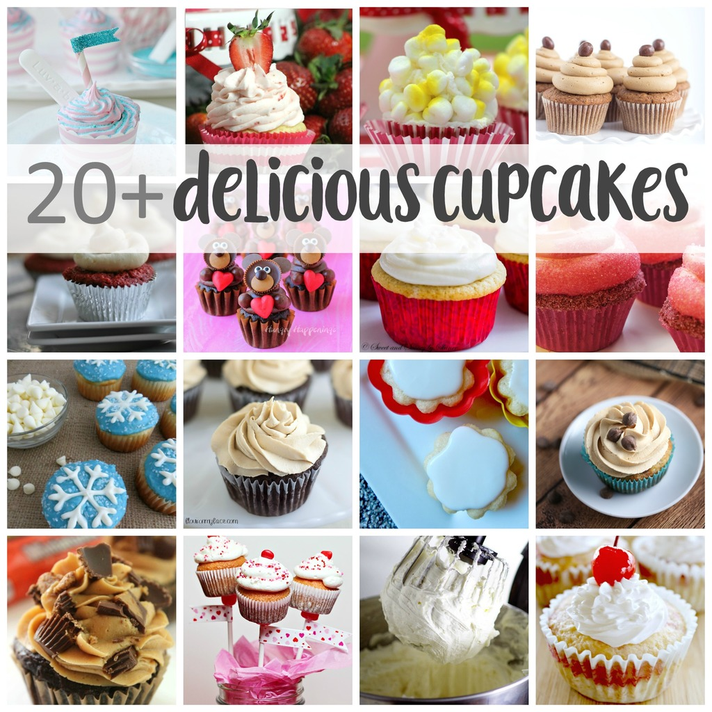 Over 20 Delicious cupcake recipes!