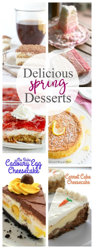 Delicious Spring Dessert Recipes that are EASY to make!