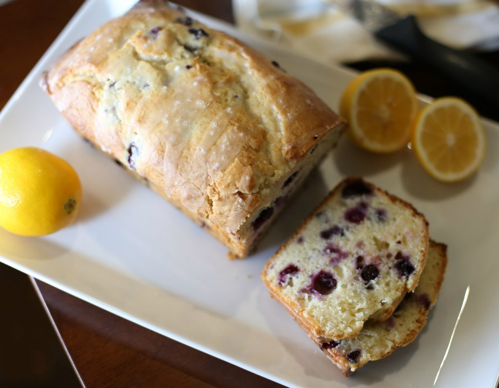 Delicious Lemon Bread with Blueberries and a Lemon Glaze!