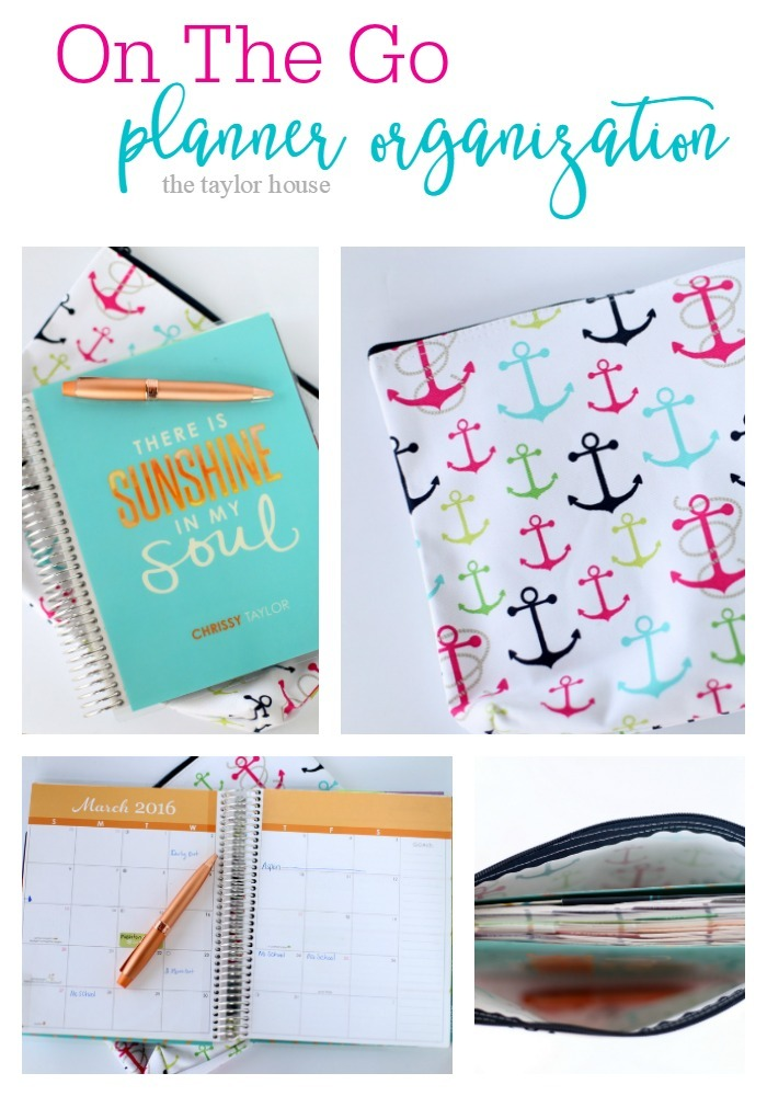 On The Go Planner Organization - Love your planner and have it with you all the time? Check out how we keep our Erin Condren LifePlanner organized when we're on the go with the Zipper Pouch from Thirty-One.