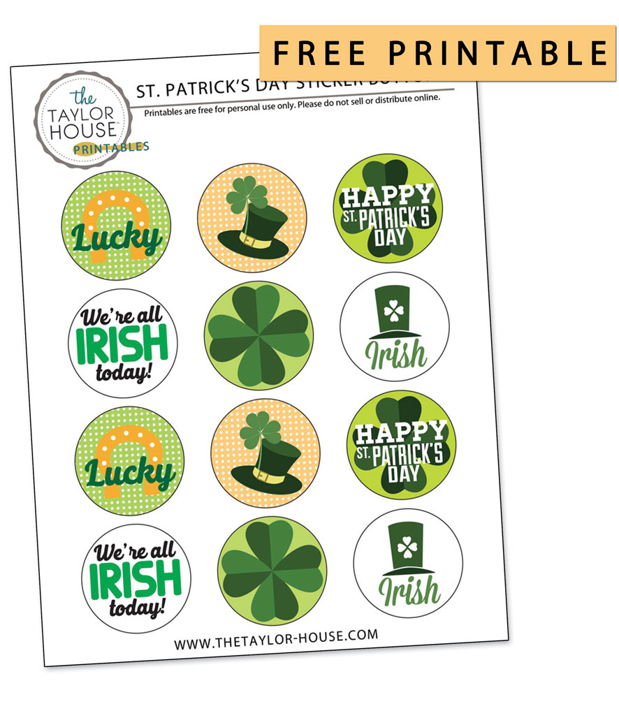 graphic about St Patricks Day Printable named St. Patricks Working day Printables The Taylor Residence