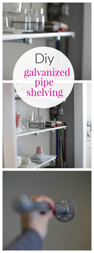 How to make Galvanized Pipe Shelves for your pantry!