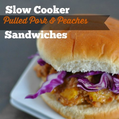 Slow Cooker Pulled Pork and Peaches Sandwiches
