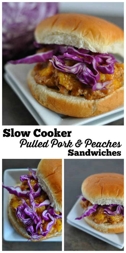 Slow Cooker Pulled Pork and Peaches Sandwiches Easy recipe