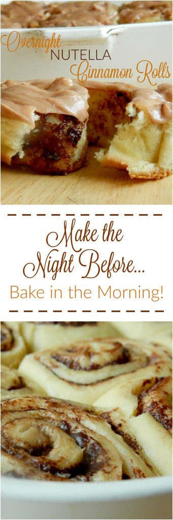 overnight nutella cinnamon rolls pin image