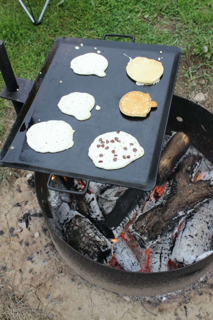 Pancakes over the Campfire
