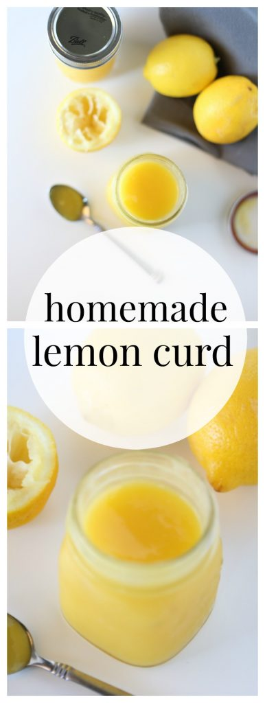 Delicious and creamy homemade lemon curd.