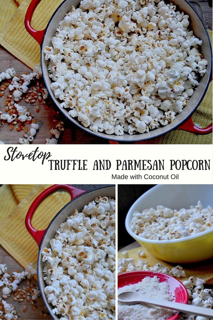 Stovetop Truffle Popcorn Coconut Oil Parmesan