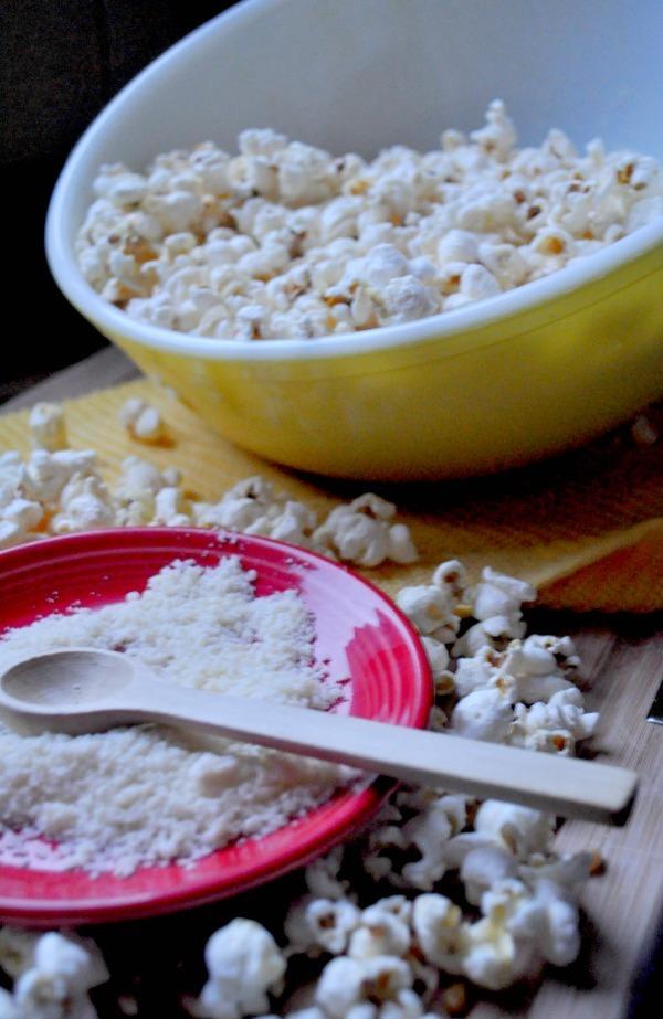 Stovetop Truffle Popcorn Parmesan