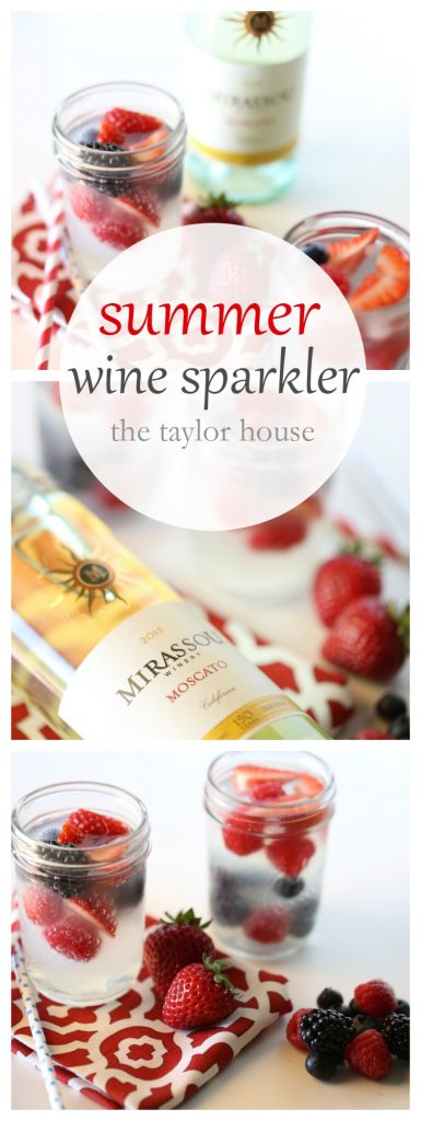 Summer wine sparkler cocktail the taylor house for White wine based cocktails