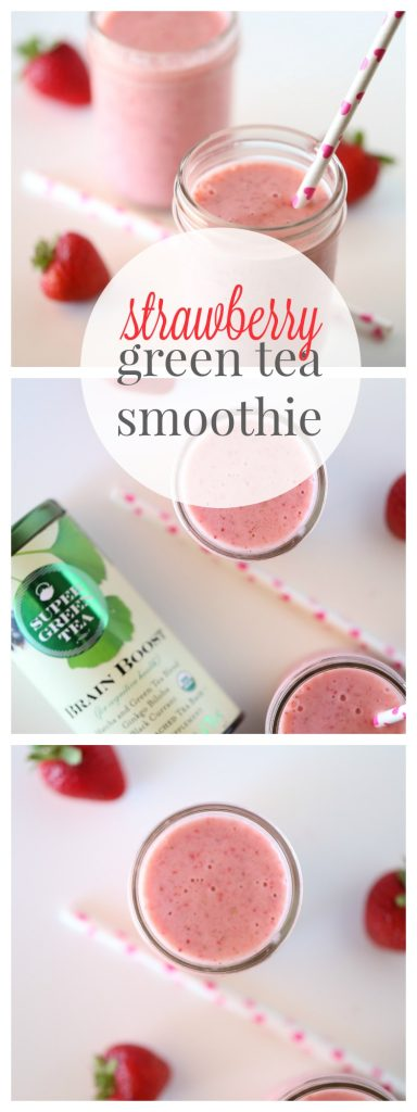 Start your day off right with a Strawberry Green Tea Smoothie!