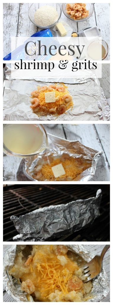 Foil Packets: Cheesy Shrimp and grits